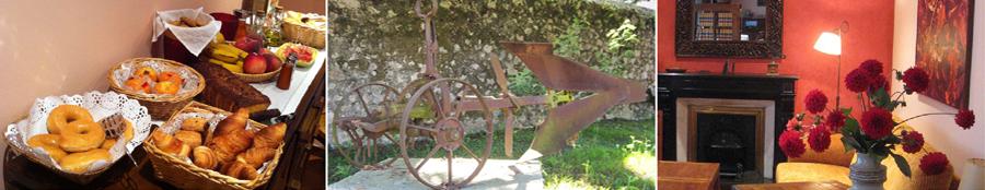 Hotel Rural en Llanes El Texeu: desayunos, exteriores y salón común