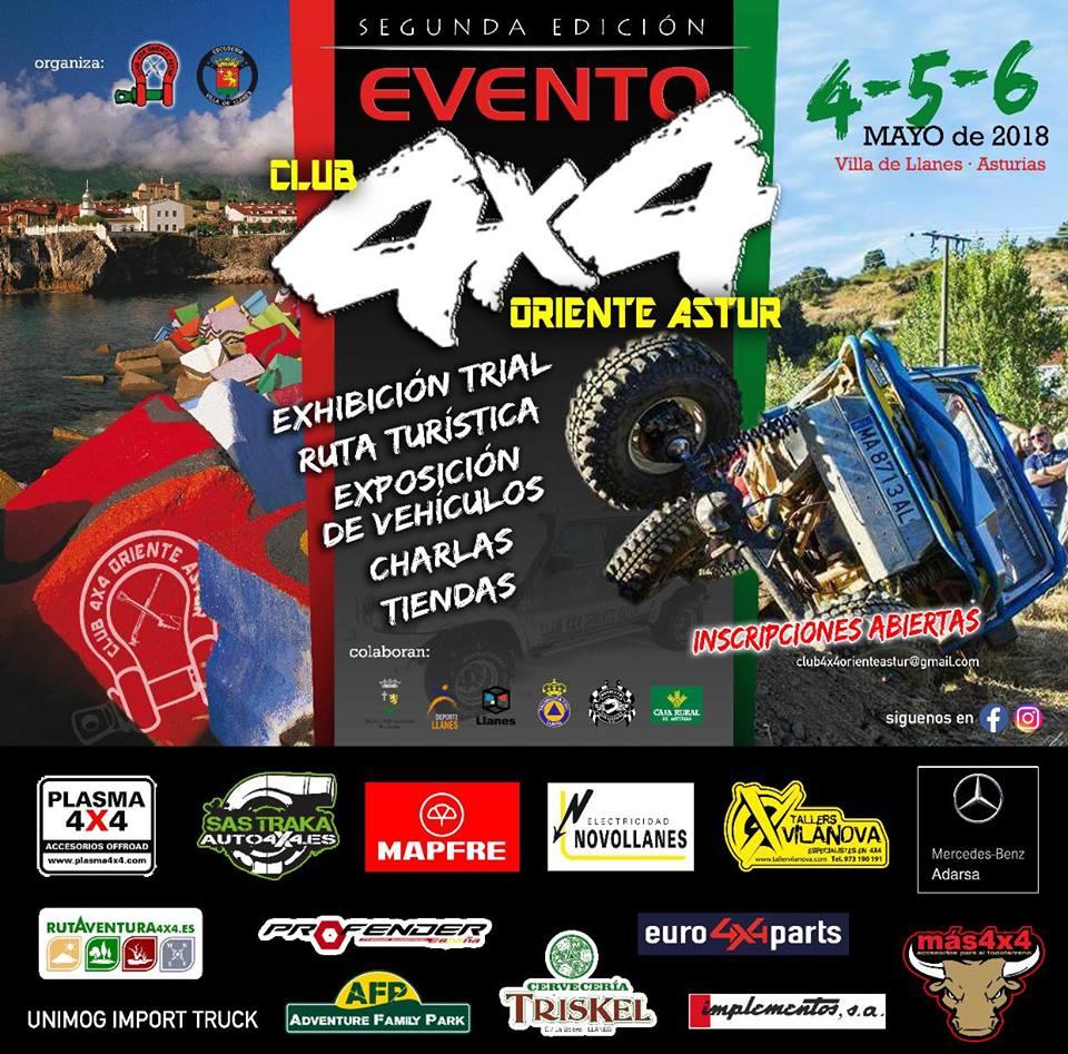 II Evento del Club4x4OrienteAstur, Llanes,mayo 2018